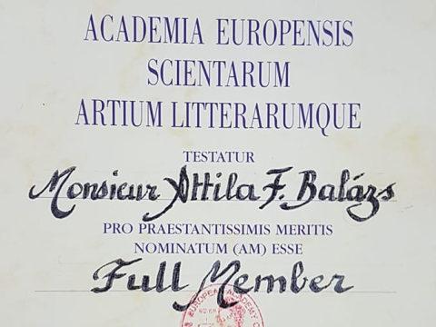 Rangos elismerés Balázs F. Attilának